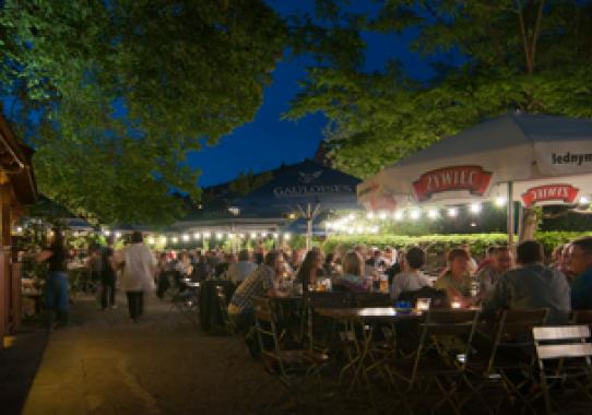 Beer garden of Restauration Kopernikus in Nuremberg