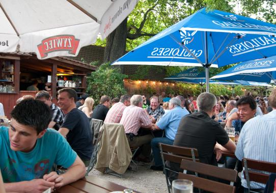 Beer garden of Restauration Kopernikus in Nuremberg